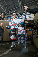 KELOWNA, CANADA - MARCH 14: Rodney Southam #17 of Kelowna Rockets walks to the ice against the Kamloops Blazers on March 14, 2015 at Prospera Place in Kelowna, British Columbia, Canada.  (Photo by Marissa Baecker/Shoot the Breeze)  *** Local Caption *** Rodney Southam;