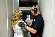 UNITED STATES-LAS VEGAS- Tourists can shoot guns at the Las Vegas Gun Store. PHOTO: GERRIT DE HEUS