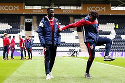Antoine Semenyo of Bristol City and Saikou Janneh of Bristol City - Mandatory by-line: Robbie Stephenson/JMP - 05/05/2019 - FOOTBALL - KCOM Stadium - Hull, England - Hull City v Bristol City - Sky Bet Championship