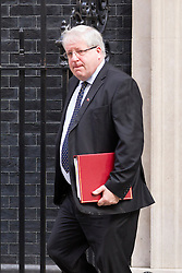 © Licensed to London News Pictures. 10/09/2013. London, UK. The Transport Secretary, Patrick McLoughlin, is seen on Downing Street in London today (10/09/2013) after a meeting of the British Government's cabinet. Photo credit: Matt Cetti-Roberts/LNP
