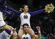SOUTH BEND, IN - JANUARY 12: Notre Dame Fighting Irish cheerleaders are seen during the game against the Boston College Eagles at Purcell Pavilion on January 12, 2019 in South Bend, Indiana. (Photo by Michael Hickey/Getty Images)