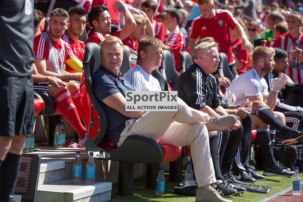 Ronald Koeman, pre kick off<br /> <br /> Southampton F.C. Vs Espanyol, Pre Season Friendly, 2nd August 2015
