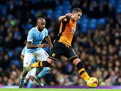 Jake Livermore of Hull City  - Mandatory byline: Matt McNulty/JMP - 01/12/2015 - Football - Etihad Stadium - Manchester, England - Manchester City v Hull City - Capital One Cup - Quarter-final