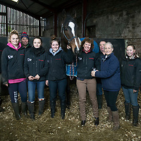 Perthshire Chamber of Commerce Business Star Awards 2017…<br />Vicki Unite Perthshire Chamber of Commerce Chief Executive presents racehorse trainer Lucinda Russell with the Outstanding Achievement Award after she and her team led 'One For Arthur' to victory in the 2017 Grant National.<br />Picture by Graeme Hart.<br />Copyright Perthshire Picture Agency<br />Tel: 01738 623350  Mobile: 07990 594431
