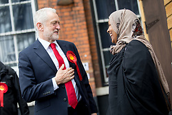 June 8, 2017 - London, London, UK - London, UK. Leader of the Labour Party Jeremy Corbyn arrives at Polling Station in Islington to vote in the 2017 General Election. (Credit Image: © Tom Nicholson/London News Pictures via ZUMA Wire)