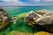 Snorkling on Georgian Bay<br /> Bruce Peninsula National Park<br /> Ontario<br /> Canada