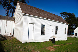 One room schoolhouse building, Pierce Point Ranch, Point Reyes National Seashore, California, United States of America