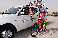 BYSTROM Sven Erik (NOR), SCHMIDT Torsten (GER) Sportsdirector Team Katusha (RUS)/ Ravitaillement Bevoorrading, during the 14th Tour of Qatar 2015, Stage 4 Al Thakhira - Mesaieed (165,5Km), on February 11, 2015. Photo Tim de Waele / DPPI