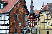 Marktplatz mit Rathaus, Harzgerode, Harz, Sachsen-Anhalt, Deutschland | market square and guild hall, Harzgerode, Harz, Saxony-Anhalt, Germany