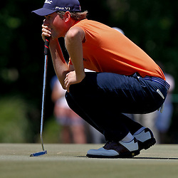 April 26, 2012; Avondale, LA, USA; Webb Simpson on the 8th hole during the first round of the Zurich Classic of New Orleans at TPC Louisiana. Mandatory Credit: Derick E. Hingle-US PRESSWIRE