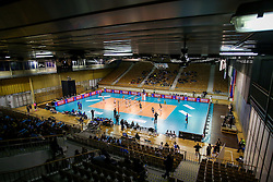 View on court during the volleyball match between Calcit Ljubljana and  Igor Gorgonzola Novaraat 2016 CEV Volleyball Champions League, Women, League Round in Pool B, 5th Leg, on Januar 19, 2016, in Hala Tivoli, Ljubljana, Slovenia.  (Photo by Matic Klansek Velej / Sportida)