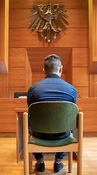 28.05.2019, Innsbruck, AUT, Mordprozess gegen 20 jaehrigen, der Angeklagte soll bei einem Festival in Imst einen 17-Jährigen mit einem Messer getötet haben, im Bild der Angeklagte // Murder trial, the accused allegedly killed a 17-year-old man with a knife at a festival in Imst Innsbruck, Austria on 2019/05/28. EXPA Pictures © 2019, PhotoCredit: EXPA/ Johann Groder