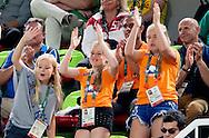 RIO DE JANEIRO - King Willem-Alexander, Queen Maxima with the princesses Amalia, Alexia and Ariane cheering for the Golden exercise Sanne Wevers at the Olympic Games in Rio. King Willem-Alexander, King Maxima with the princesses Amalia, Alexia and Ariane cheering for the Golden exercise Sanne Wevers at the Olympic Games in Rio. copyright Robin Utrecht RIO DE JANEIRO - Koning Willem-Alexander, koningin Maxima met de prinsessen Amalia, Alexia en Ariane juichen voor de gouden oefening van Sanne Wevers tijdens de Olympische Spelen in Rio. Koning Willem-Alexander, koning Maxima met de prinsessen Amalia, Alexia en Ariane juichen voor de gouden oefening van Sanne Wevers tijdens de Olympische Spelen in Rio. copyright robin utrecht
