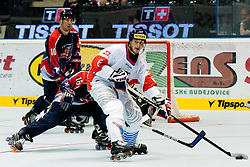 Tomas Mojzis of Czech Republic at IIHF In-Line Hockey World Championships 2011 Top Division Gold medal game between National teams of Czech republic and USA on June 25, 2011, in Pardubice, Czech Republic. (Photo by Matic Klansek Velej / Sportida)