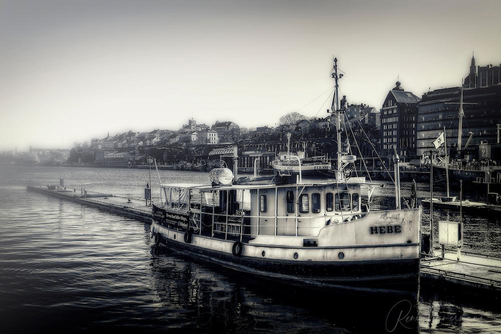 Hebe, a boat near Slussen in Stockholm.