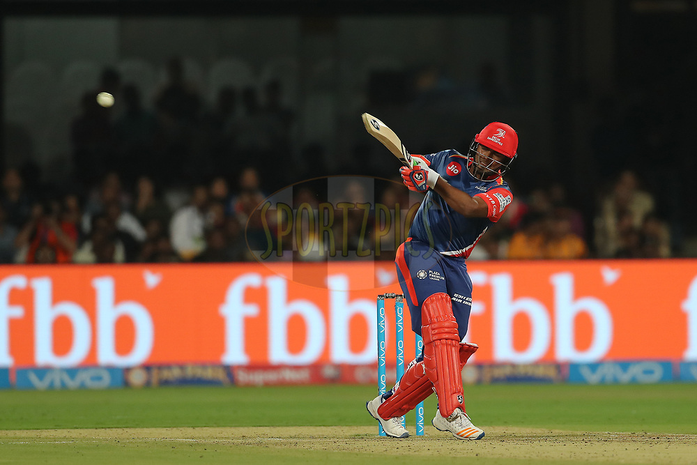Rishabh Pant of the Delhi Daredevils during match 5 of the Vivo 2017 Indian Premier League between the Royal Challengers Bangalore and the Delhi Daredevils held at the M.Chinnaswamy Stadium in Bangalore, India on the 8th April 2017<br /> <br /> Photo by Ron Gaunt - IPL - Sportzpics