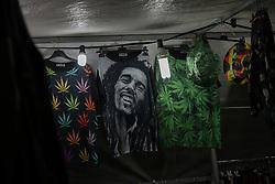 May 5, 2017 - Athens, Greece - A t-shirt of Bob Marley during Athens Cannabis Protestival 2017 in Athens on May 5, 2017. (Credit Image: © Wassilios Aswestopoulos/NurPhoto via ZUMA Press)