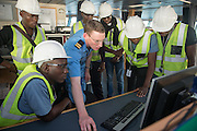 Receiving training at the bridge of the Maersk Attender
