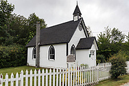 Burgoyne United Church (built in 1887) is the oldest Protestant Church on Salt Spring Island. Photographed along Fulford-Ganges Road near Burgoyne Bay on Salt Spring Island, British Columbia, Canada.
