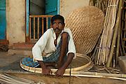 India, straw basket weaving