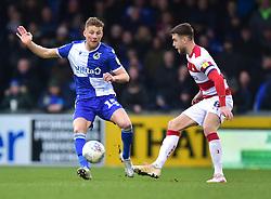 Alfie Kilgour of Bristol Rovers puts pressure on Ben Whiteman of Doncaster Rovers - Mandatory by-line: Alex James/JMP - 11/01/2020 - FOOTBALL - Memorial Stadium - Bristol, England - Bristol Rovers v Doncaster Rovers - Sky Bet League One
