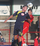 Brechin's Robert Thomson and Dundee's Iain Davidson - Brechin City v Dundee, pre-season friendly at Dens Park<br /> <br />  - &copy; David Young - www.davidyoungphoto.co.uk - email: davidyoungphoto@gmail.com