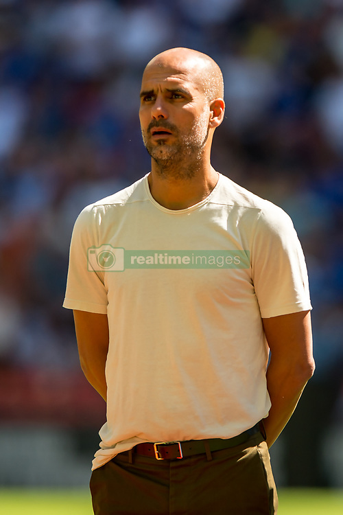 August 5, 2018 - Joseph Guardiola manager of Manchester City during the 2018 FA Community Shield match between Chelsea and Manchester City at Wembley Stadium, London, England on 5 August 2018. (Credit Image: © AFP7 via ZUMA Wire)