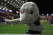 Sale mascot during the Aviva Premiership match between Sale Sharks and Gloucester Rugby at the AJ Bell Stadium, Eccles, United Kingdom on 29 September 2017. Photo by George Franks.