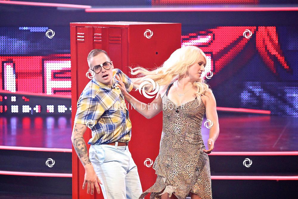 HILVERSUM - In Studio24 van RLT4 is de derde live show van Hollands Got Talent weer geweest.  Met op de foto de dansgroep Come Correct. En met een gastrol voor Britt Dekker. FOTO LEVIN DEN BOER - PERSFOTO.NU