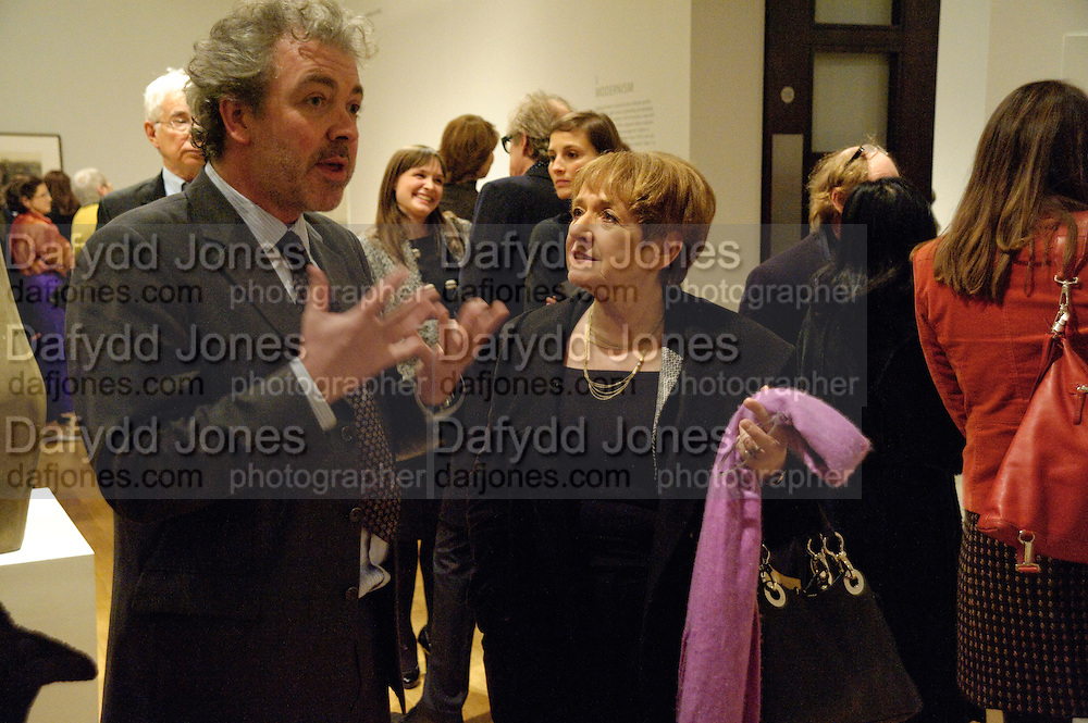 MARGARET HODGE; CHRIS STEVENS; CURATOR OF THE EXHIBITION,  Henry Moore, Tate Britain. London. 22 February 2010