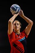 Ellie Bird of the Tactix warms up during the ANZ Premiership Netball match, Tactix v Steel, Horncastle Arena, Christchurch, New Zealand, 11th February 2019.Copyright photo: John Davidson / www.photosport.nz