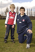 Gloucester Rugby Camp at Pates Grammar School. 4-4-06. Pics with Players
