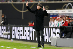 November 15, 2018 - Leipzig, Germany - Germany head coach Joachim Loew gestures during the international friendly match between Germany and Russia on November 15, 2018 at Red Bull Arena in Leipzig, Germany. (Credit Image: © Mike Kireev/NurPhoto via ZUMA Press)