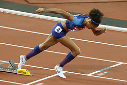 USA's Allyson Felix in the semi-finals of the 400 meters women during the IAAF World Athletics 2017 Championships In Olympic Stadium, Queen Elisabeth Park, London, UK, on August 7th, 2017 Photo by Henri Szwarc/ABACAPRESS.COM