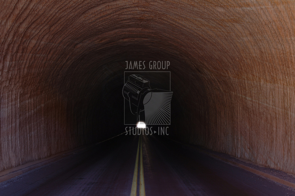 Long tunnel with a light at the end