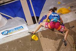 Verhoeven Anak (BEL) during women final competition of IFSC Climbing World Cup Kranj 2016, on November 27, 2016 in Arena Zlato Polje, Kranj, Slovenia. (Photo By Grega Valancic / Sportida.com)