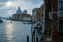 Early morning view of the Grand Canal and the Basilica di Santa Maria della Salute from the Ponte dell Accademia, Venice, Italy.<br /> Photo: Ed Maynard<br /> 07976 239803<br /> www.edmaynard.com