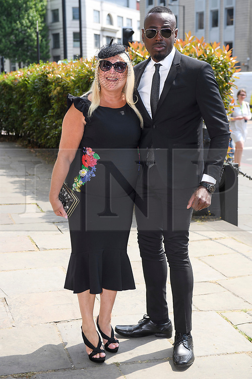 © Licensed to London News Pictures. 22/05/2018. London, UK. VANESSA FELTZ attends the funeral of television presenter Dale Winton at Commonwealth Church in Marylebone, London. Dale Winton, who was found dead at his home on April 18, was famous for presenting Supermarket Sweep and National Lottery game show. Photo credit: Ben Cawthra/LNP