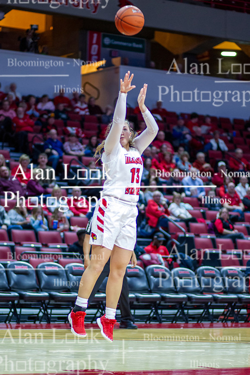 NORMAL, IL - January 03: Kayel Newland during a college women's basketball game between the ISU Redbirds and the Sycamores of Indiana State January 03 2020 at Redbird Arena in Normal, IL. (Photo by Alan Look)
