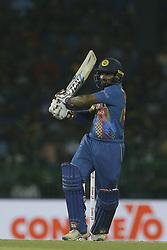March 6, 2018 - Colombo, Sri Lanka - Sri Lanka cricketer Kusal Perera plays a shot during the 1st T20 cricket match of NIDAHAS Trophy between Sri Lanka and India at R Premadasa cricket ground, Colombo, Sri Lanka on Tuesday 6 March 2018  (Credit Image: © Tharaka Basnayaka/NurPhoto via ZUMA Press)