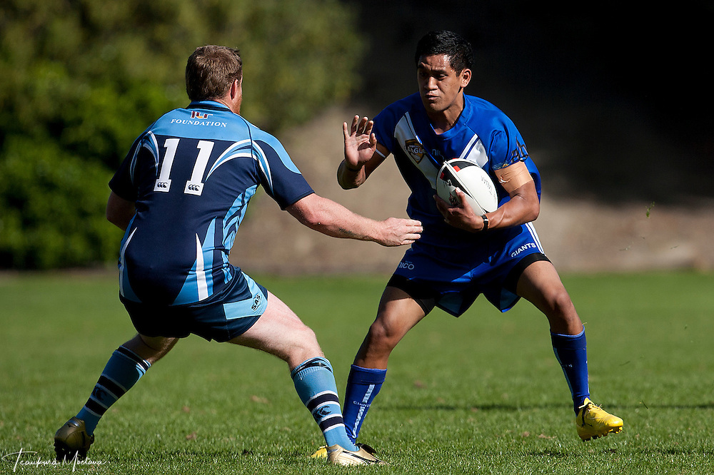 During the round one Southland District Rugby league match between the Wakatipu Giants and He Tauaa at Queenstown Recreation Ground, Queenstown, New Zealand, Sunday April 01, 2012. Credit:Teaukura Moetaua / Media Sport