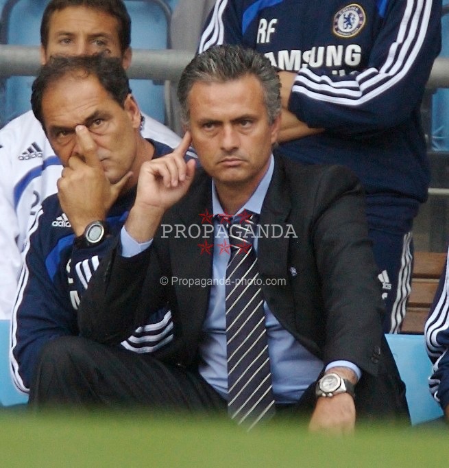 Birmingham, England - Sunday, September 2, 2007: Chelsea's manager Jose Mourinho looks dejected on the bench during the -10 defat by Aston Villa during the Premiership match at Villa Park. (Photo by David Rawcliffe/Propaganda)