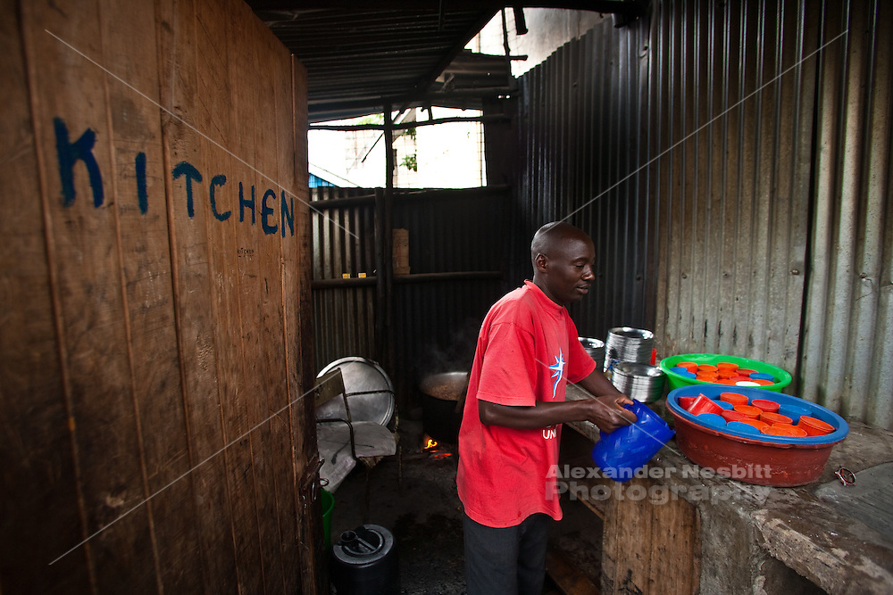 Nairobi, June 2010 -   The kitchen at the Cana in children's home in Makadara