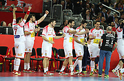 Ambiance Spain players during the EHF 2018 Men's European Championship, 1/2 final Handball match between France and Spain on January 26, 2018 at the Arena in Zagreb, Croatia - Photo Laurent Lairys / ProSportsImages / DPPI