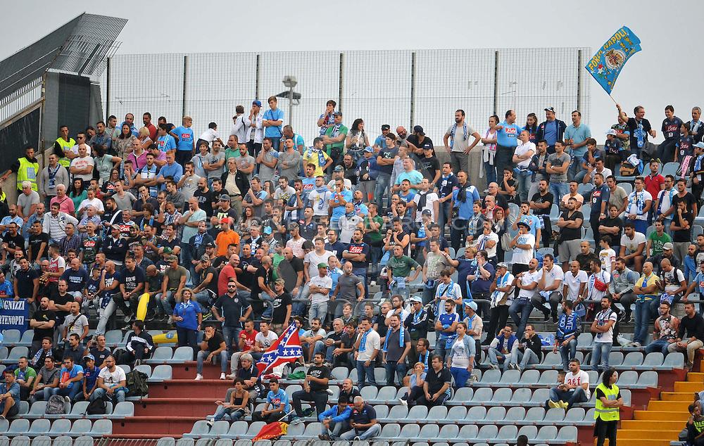 Udine, 21 settembre 2014.<br /> Serie A 2014/2015 3^ giornata. <br /> Stadio Friuli.<br /> Udinese vs Napoli.<br /> Nella foto: tifosi Napoli.<br /> Copyright foto Petrussi / Ferraro Simone