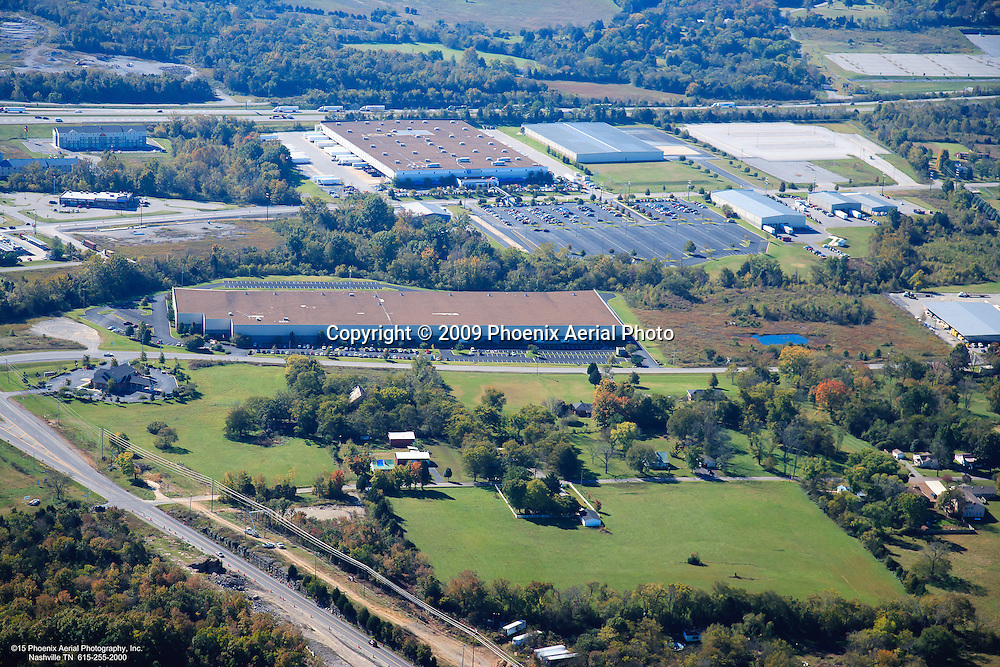 Aerial photo of a portion of the Eastgate Business Park off of Interstate 40 in Lebanon Tennessee.