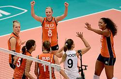 23-09-2014 ITA: World Championship Nederland - Kazachstan, Verona<br /> Nederland wint de opening wedstrijd met 3-0 / Femke Stoltenborg, Judith Pietersen, Celeste Plak