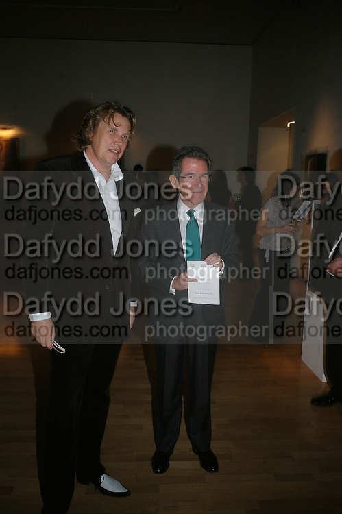 Theo Fennell and Lord Brown, ' Show Off' Theo Fennell exhibition co-hosted wit Vanity Fair. Royal Academy. Burlington Gdns. London. 27 September 2007. -DO NOT ARCHIVE-© Copyright Photograph by Dafydd Jones. 248 Clapham Rd. London SW9 0PZ. Tel 0207 820 0771. www.dafjones.com.