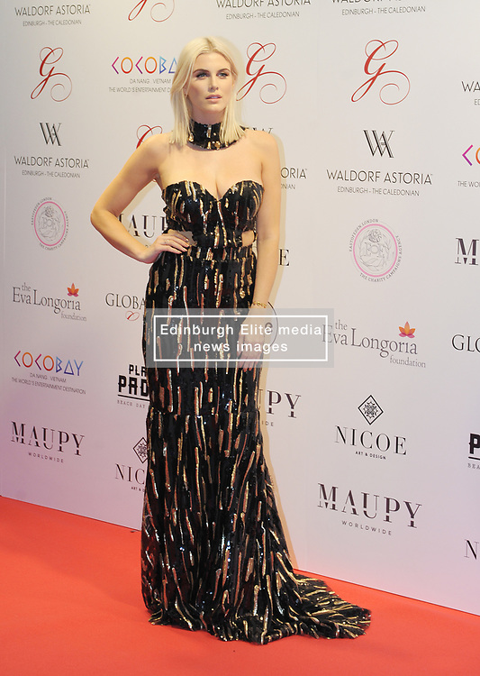 The Global Gift Gala Red Carpet, Wednesday 17th May 2017<br /> <br /> Ashley James arrives on the red carpet<br /> <br /> The Global Gift Gala is a unique international initiative from the Global Gift Foundation, a charity founded by Maria Bravo that is dedicated to philanthropic events worldwide; to help raise funds and make a difference towards children and women across the globe.<br /> <br /> Charities benefiting from the 2017 Edinburgh Global Gift Gala include the  Eva Longoria Foundation, which aims to improve education and provide entrepreneurial opportunities for young women;  Place2Be which provides emotional and therapeutic services in primary and secondary schools, building children's resilience through talking, creative work and play; and the Global Gift Foundation with the opening of their first 'CASA GLOBAL GIFT', providing medical treatments and therapy for children affected by rare disease.<br /> <br /> (c) Aimee Todd | Edinburgh Elite media