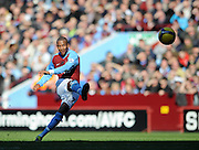 Ashley Young's Free Kick hits the post during the Barclays Premier League match between Aston Villa and Chelsea at Villa Park on February 21, 2009 in Birmingham, England.
